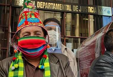 """El """"Tata"""" saliendo de su audiencia de acción de libertad (Foto: @Tonnylp)"""