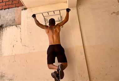 Coimbra tiene equipos de gimnasio en su casa