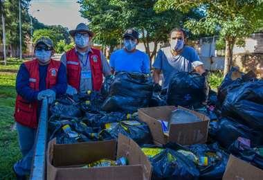 En Camiri se distribuye la ayuda en los barrios. Foto: Alcaldía de Camiri