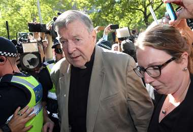 El cardenal de ida a la Corte en una foto del año pasado. Foto AFP