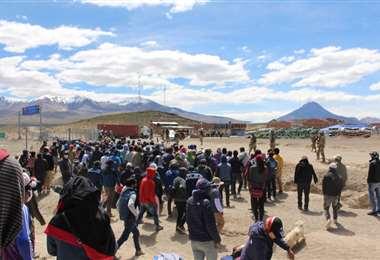 Enfrentamiento en la frontera I Foto: El Sol de Iquique.