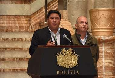 La autoridad en Palacio Quemado I Foto: Presidencia.