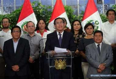 El presidente peruano Martín Vizcarra. Foto Presidencia