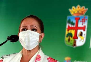Angélica Sosa, alcaldesa interina de Santa Cruz. Foto Ricardo Montero
