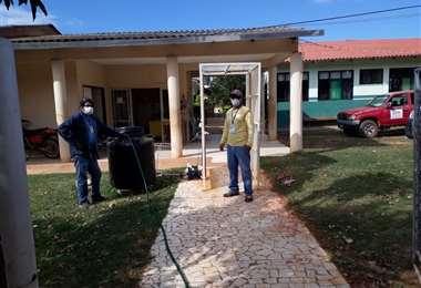Ingreso al Centro de Salud Integral Germán Vaca Diez