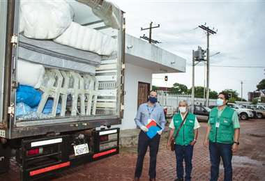 Primera donación de Aidisa Bolivia S. A. recibida en el COED (Foto: Aidisa)