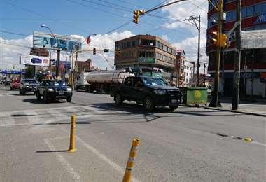 Ciudad de El Alto en cuarentena