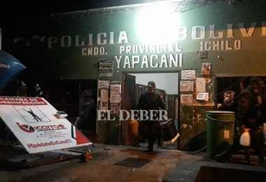 Así quedó el comando policial de Yapacaní tras el saqueo | Foto: Soledad Prado