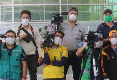 Los periodistas están en primera línea, igual que los médicos, las enfermeras, los policías y los funcionarios públicos. /FOTO: JORGE IBÁÑEZ