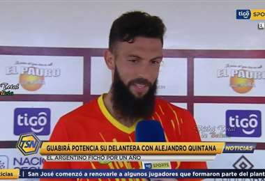 Alejandro Quintana, delantero de Guabirá que marcó dos goles en el Apertura 2020. Foto: internet