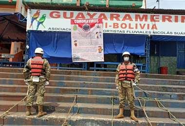 El municipio permanece encapsulado y bajo la vigilancia de fuerzas de seguridad. Foto: La Palabra del Beni