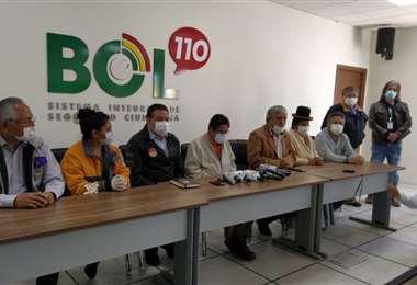La reunión entre autoridades de La Paz I GAMLP