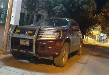 Este es el vehículo en el que se transportaban los detenidos. Foto: El Potosí
