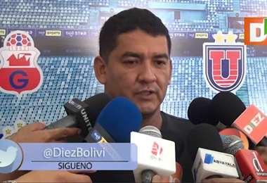 Marco Rodríguez, vicepresidente de la Federación Boliviana de Fútbol. Foto: El Deber