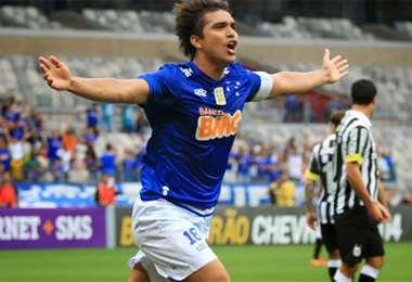 Marcelo Martins volvió a principio de año al Cruzeiro, club en el que fue goleador de la Libertadores el 2008.  Foto: internet