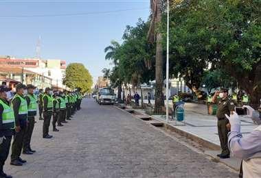 La Policía rinde un homenaje póstumo al efectivo policial Porfirio Ramos en Trinidad/ ABI