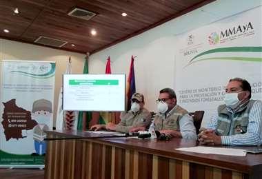 El reporte fue expuestos por ejecutivos de la ABT y del Ministerio de Medio Ambiente y Agua