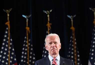 El candidato demócrata a la presidencia de EEUU. Foto AFP