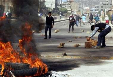 Bloqueos en Kara Kara, Cochabamba