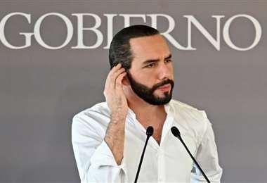 El mandatario de El Salvador. Foto AFP