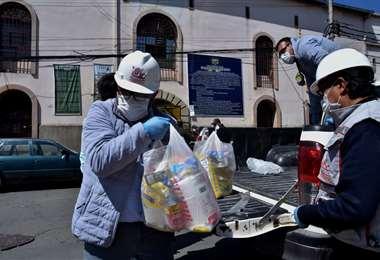Entrega de alimentos en la cárcel de San Pedro I APG Noticias.