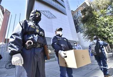 Fiscalia allanó oficina de YPFB. Foto: APG