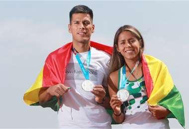 Los tenistas Federico y Noelia Zeballos lograron medalla de plata en los Juegos Panameriano de Lima 2019. Foto: El Deber
