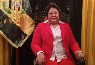 Inés Quispe, presidente del club The Strongest. La única dama que manda en una entidad del balompié nacional. Foto: internet