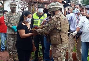El Ejército rindió honores al último benemérito de la guerra del Chaco./Foto: Carlos Quinquiví