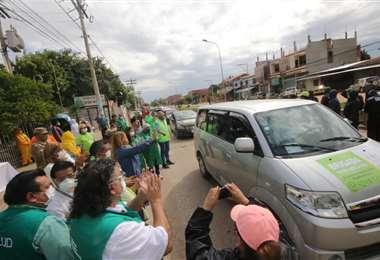 El momento en que las brigadas salen a los barrios/ Foto: Jorge Ibáñez