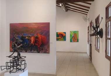 Algunas de las obras que están a la venta a través de la Casa  Melchor Pinto