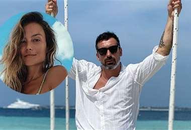 Ezequiel Lavezzi y su novia Natalia Borges pasan juntos la cuarentena. Foto: Internet