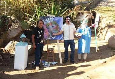 Juan Bustillos y Leoni son dos de los artistas que mostrarán la rqiueza cultural de la Chiquitania