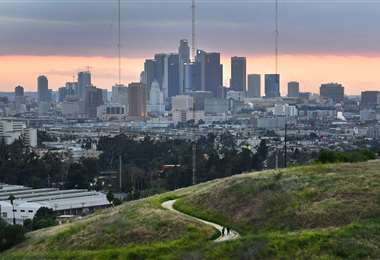 Vista general de la ciudad de Los Ángeles. Foto AFP