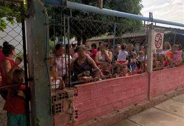 En el pabellón mujeres hay 37 niños con sus madres