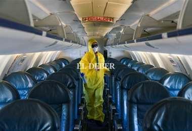 Las aerolíneas aplican normas de bioseguridad para tranquilidad de los pasajeros./Foto: Jorge Uechi