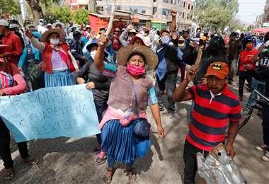 Los bloqueos continúan en la zona sur de Cochabamba. (Foto: APG)