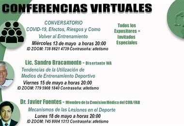 El afiche que público la Federación Atlética de Bolivia. Foto: Internet