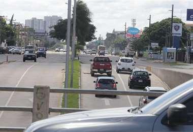 Se incrementó el tráfico vehicular en Santa Cruz