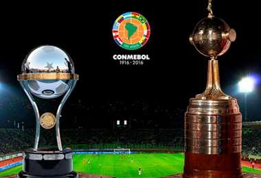 La Copa Sudamericana (izq.) y la Copa Libertadores los disputan los clubes de la Conmebol. Foto: Internet