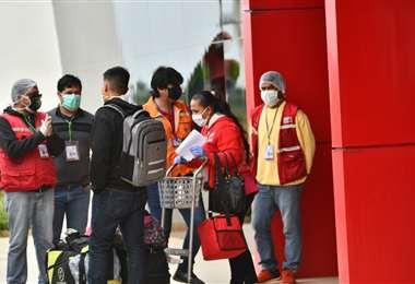 Los aeropuertos se volvieron a reactivar por los vuelos solidarios, pero el turismo es nulo,/Foto: Jorge Uechi