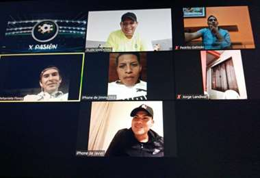 Arqueros tuvieron el jueves una entretenida charla virtual. Foto: Nery Quintana