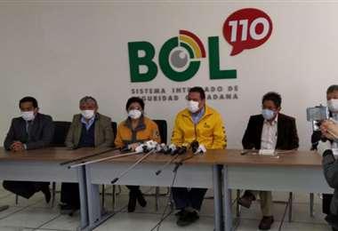 Autoridades de La Paz en conferencia de prensa I GAMLP.