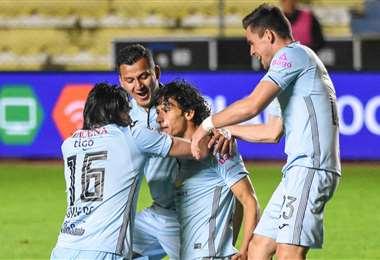 Un festejo de los jugadores de Bolívar en el torneo Apertura en el que acumuló 20 puntos en 12 fechas disputadas. Foto: internet