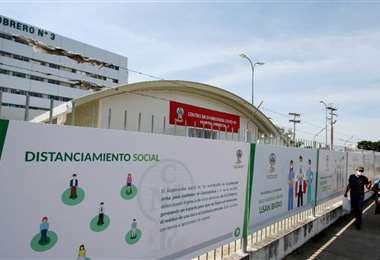 Uno de los domos habilitados en la CNS. Foto: Ricardo Montero
