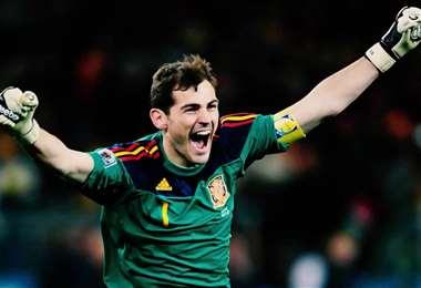 Iker Casillas fue figura de Real Madrid y la selección española. Foto: internet