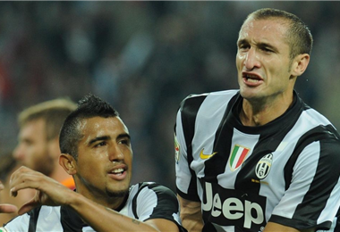 Chiellini y Vidal compartieron vestuario en la Juventus