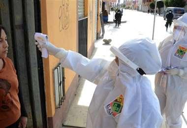 Autoridades activaron un cordón sanitario en El Alto. Foto ABI