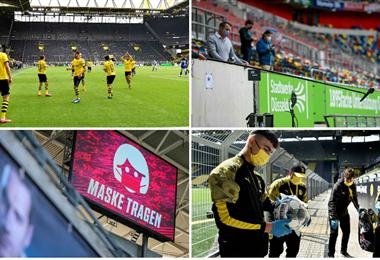 El fútbol regreso pero con varias medidas de seguridad
