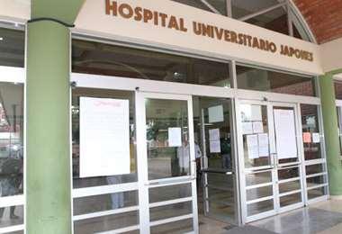 Parte del centro hospitalaria tiene problemas con las cañerías de agua